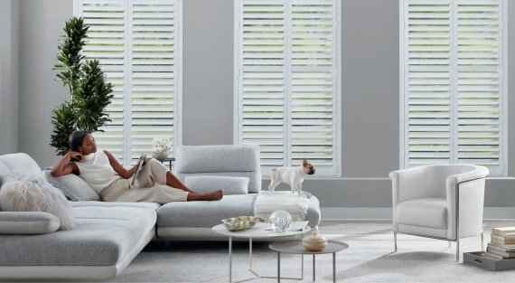 Shutters at AD Blinds & Design